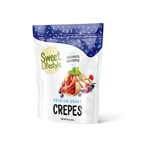 Originale preparato per Crepes | 1 KG Sweet Lifestyle |100% Made in Italy | Crepes mix | Facile e veloce da preparare | Qualità Premium | Alta qualità