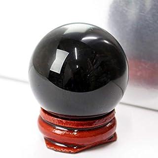 モリオン 丸玉 水晶玉 黒水晶 morion 原石 【38-40mm玉 台付き】天然石 パワーストーン a10077