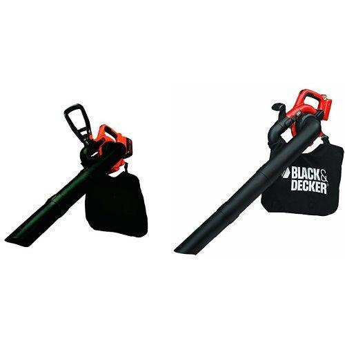 BLACK+DECKER GWC3600L20-QW Aspiratore/Soffiatore/Trituratore 3 in 1, a Batteria al Litio, 36 V, 2.0 Ah + GWC3600LB-XJ Soffiatore/Aspiratore/Trituratore senza Batteria e Caricabatteria