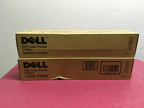 Dell 5100CN Magenta Toner (8000 Yield) (Orginal OEM# 310-5809) - Geniune Orginal OEM toner