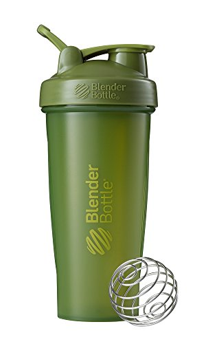 Blender Bottle Classic Loop Top Shaker Bottle, Moss Green/Moss Green