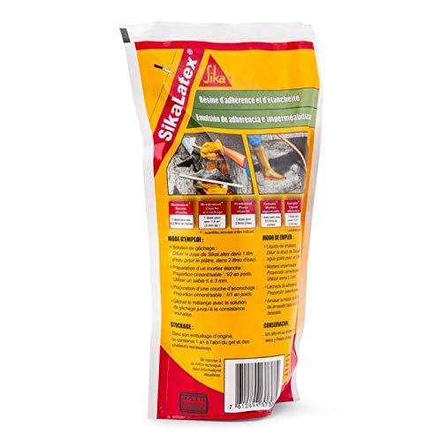 SikaLatex, Emulsión adhesiva para mortero o lechada de cemento, 500ml, Blanco
