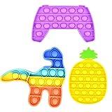 tech LIVING Juego de 3 juguetes antiestrés de burbujas Pop Fidget juguete, alivio de ansiedad, antiansiedad, antiansiedad, juguete sensorial, enviado desde UK National Prime (juego de 3)