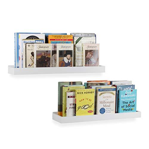 Moderne Zuhause weiß Wandregal Tablett Keil 61x 15,2cm, Palisander, weiß, 24x6