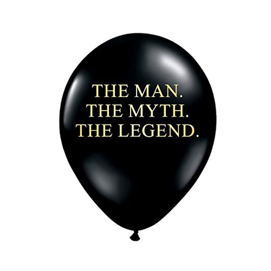 White Rabbits Design The Man The Myth The Legend Balloons in Black and Metallic Gold, Birthday Party Decorations for Him, Funny Birthday Balloons Decorations, Funny Balloons, Set of 3