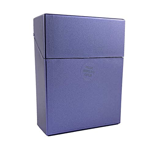 Zigarettenbox XL metallic für 25 Zigaretten Etui Kunststoff (Blau metallic)