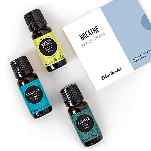 Edens Garden Breathe Essential Oil 3 Set, Best 100% Pure...