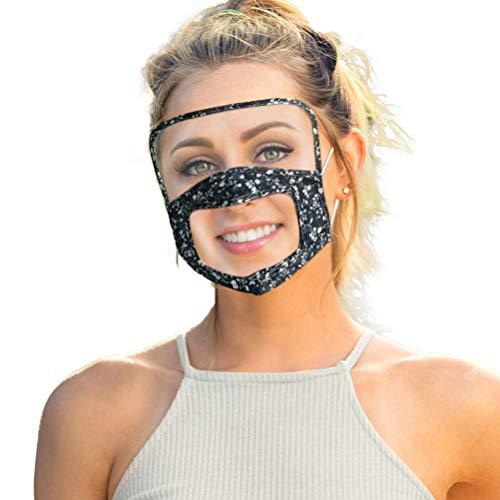 Sarple Halloween Maske Sichtbare Sonnenschutz Gesichtsmaske Kinder Schutzmaske mit Transparent Window für Party Halloween Fasching Karneval Kostüm Cosplay Dekoration