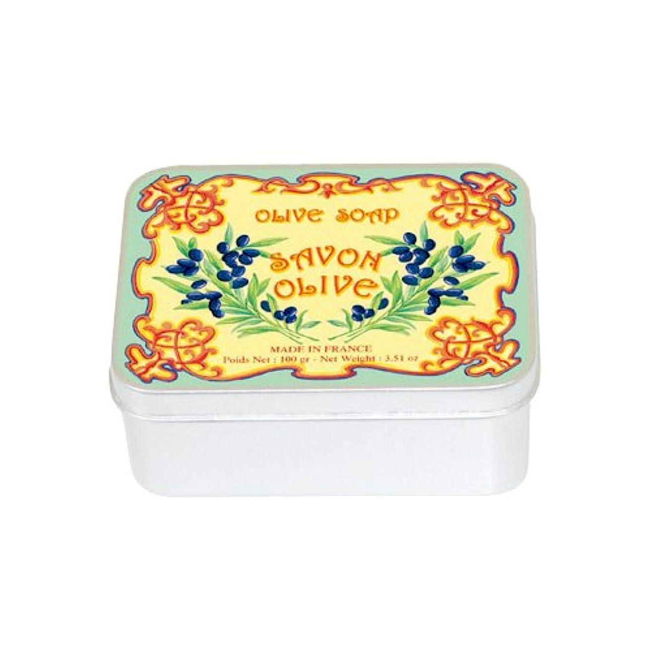 氷石化する受け継ぐルブランソープ メタルボックス(オリーブの香り)石鹸