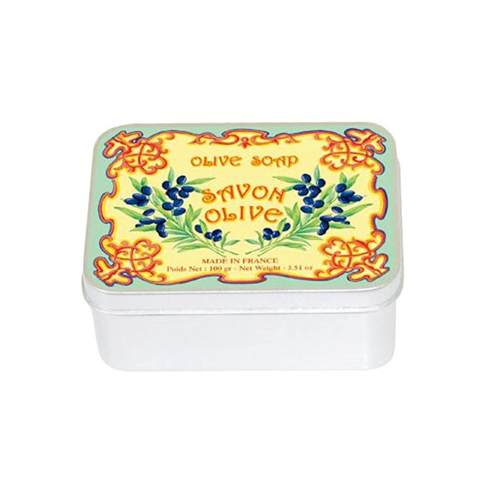 ヘリコプターラジエータートランクライブラリルブランソープ メタルボックス(オリーブの香り)石鹸