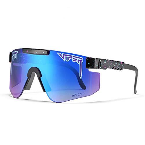 DGFDHN Gafas De Sol Polarizadas Pit Viper Sport Para Hombres Y Mujeres, Gafas A Prueba De Viento Al Aire Libre, Lentes Con Espejo Uv, -C32