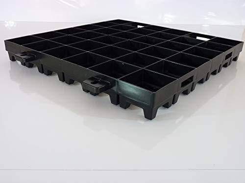 WKH GmbH 20 qm Medium (80 Stück 50x50x6 cm) Paddockplatten Paddockraster Reitplatzgitter Matschplatten Paddockgitter