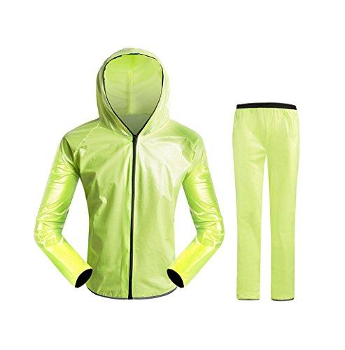 Impermeable Sportswear – Chubasquero de ciclismo para montañismo, montañismo, pantalones de lluvia divididos, traje para hombre y mujer, adulto al ai