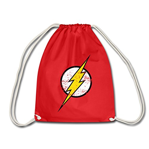 DC Comics Justice League Flash Logo Retro Look Turnbeutel, Rot