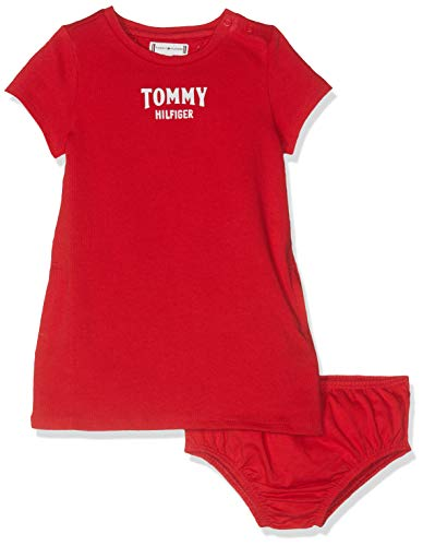 Tommy Hilfiger baby-meisjes jurk ESSENTIAL GRAPHIC KNIT DRESS S/S