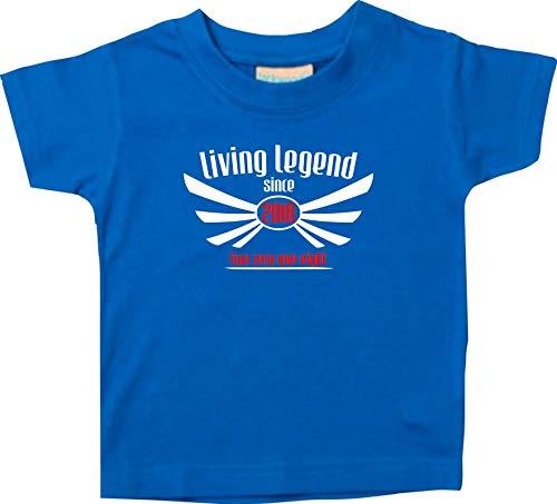 Shirtstown T-SHIRT ENFANTS Living légende Since 2018 deux Zero une EIGHT - Royal, 24-36 Monate