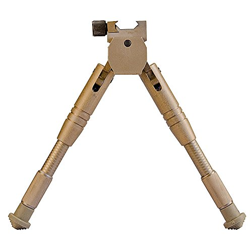 Caldwell 7.5-10 Inch Bipod with Adjustable Legs and Slim Folding Design for Easy Transport, Rifle Stability, and Target Shooting