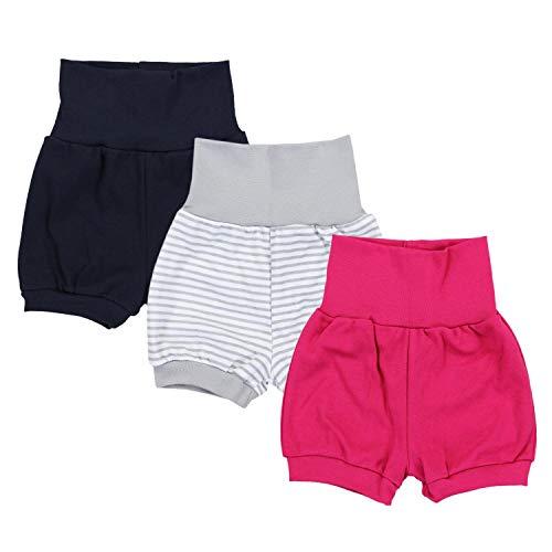 TupTam Baby Mädchen Kurze Pumphose 3er Pack, Farbe: Farbenmix 2, Größe: 80/86