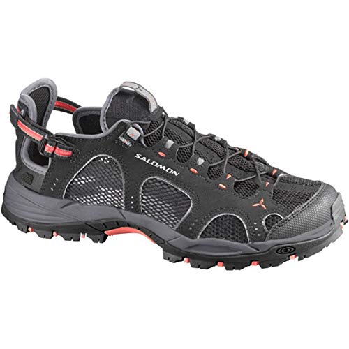 Salomon Damen Techamphibian 3 Walkingschuhe, Schwarz (Black/Dark Cloud/Papaya-B), 39 1/3 EU