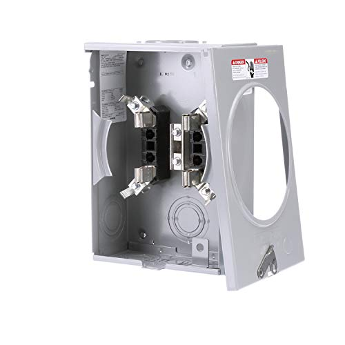 Siemens SUAT111-0PGP 135-Amp, 4 Jaw, Ringless Cover, Horn Bypass, Overhead And Underground Feed, 7/8 Barrell Lock, Meter Socket
