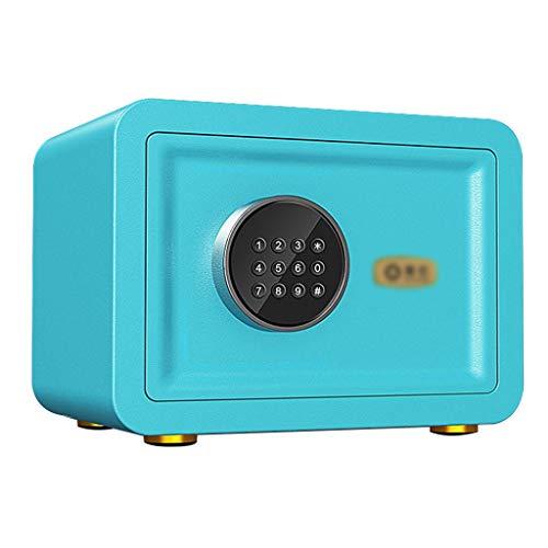 Tresore Safe, kleiner elektronischer Safe Schrank mit Alarmanlage Home-Office - blau -35X25X25cm Insurance Box Möbeltresore
