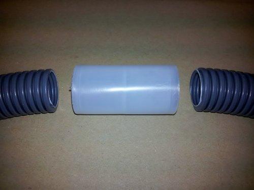 M50 Verbinder Stoßverbinder Muffe für Kabelschutzrohr Elektro Installationsrohr Wellrohr flexibel betonfest MD 0250FL