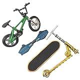 POHOVE Mini Finger Spielzeug Set für Kinder, Profi Finger Fahrrad Scooter Skateboards - 4, Free Size