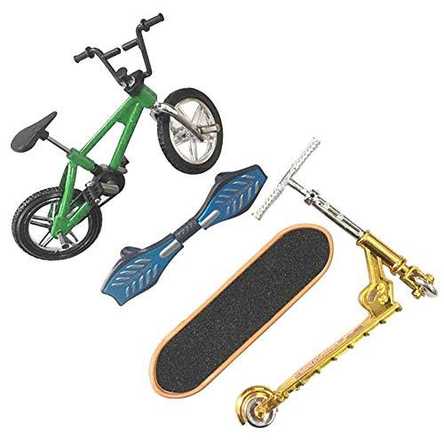 POHOVE Mini Finger Spielzeug Set für Kinder, Profi Finger Fahrrad Scooter Skateboards - 2, Free Size