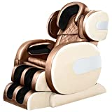 Zero Gravity Chair Massage Chair 8D Electric Massage Chair Space Capsule Integrated Fullbody Air Bag Zero-Gravity Lazyboy Recliner Chair (Yellow and Claret, 57'' X 30'' X 40'')