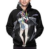 Sudadera con capucha delgada para hombre Overlord Albedo Pullover Sudaderas, Negro, Medium