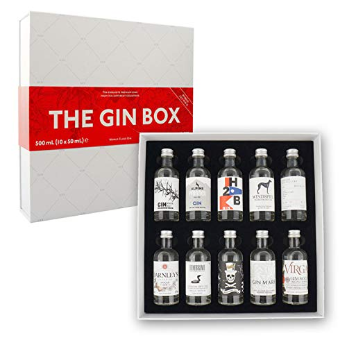 The Gin Box Tasting Set mit 10 Gin Sorten aus 10 Ländern (Edition 2)
