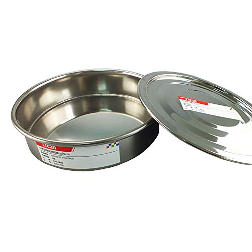Adamas-Beta Test Sieve Catch Pan and Lid for Chrome Plating Steel Frame φ20cm Diameter Sieve