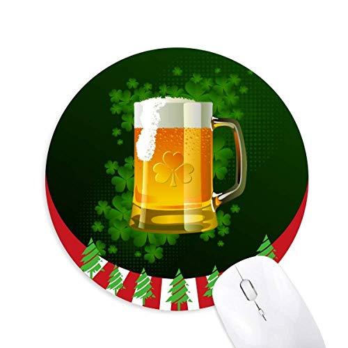 Bier Irland St.Patrick's Day Round Rubber Mouse Pad Weihnachtsdekoration