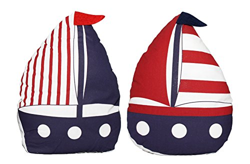 Chesapeake Bay Set of 2 Fabric Sailboat Door Stops