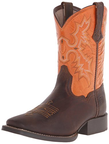 Kids' Fatbaby Cowgirl Western Boot (Little Kid/Big Kid), Powder Brown/Western Brown, 5 M US Big Kid