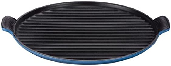 Le Creuset Enameled Cast Iron Bistro Grill Pan, 12-2/3-Inch, Marseille