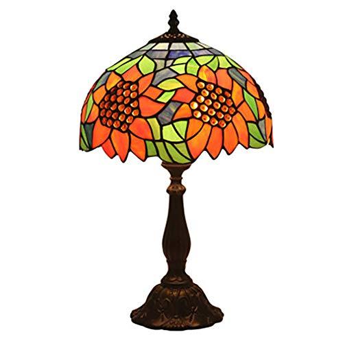 Tiffany-tabel van Tiffany, 12 inch, handgemaakt, tafellamp, kunstgestaind glas, tafelverlichting voor slaapkamer, woonkamer, bijzettafel