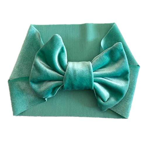 Bébé fille bandeau élastique Big Bow Bébé nouveau-né bambin cheveux larges cerceau festival ornements de cheveux (Color : Mint Green)