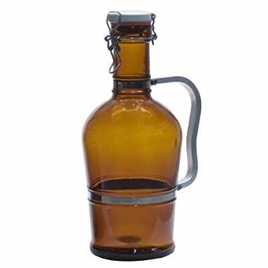 2 Liter Growler with Metal Handle- Amber