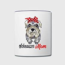 Schnauzer Mom Wearing Glass Funny Mug Coffee Mug Gifts for Friends Ceramic Tea Mug Cup 11oz
