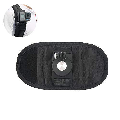 360 graden snel roterende rugzak Clip Schouder riem riem gesp borst bevestiging beugel voor Go Pro Sport Camera