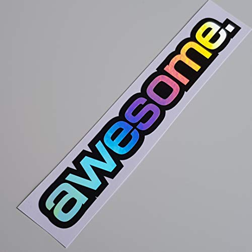 folien-zentrum Awesome Hologramm Oilslick Rainbow Flip Flop Schwarz Aufkleber Metallic Effekt Shocker Hand Auto JDM Tuning OEM Dub Decal Stickerbomb Bombing Sticker Illest Dapper Fun Oldschool