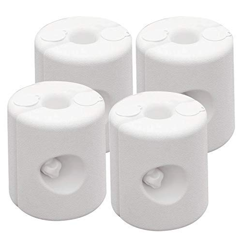 ABCCANOPY Outdoors Gazebo Weight Feet Drum Fill with Water or Sand Set of 4 (White)
