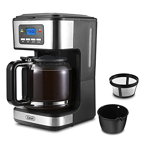 alternative coffee makers Gevi Coffee Maker, 10-Cup Programmable Drip Coffee Machine with Reusable Filter, Keep-Warm Function and Auto Shut-off