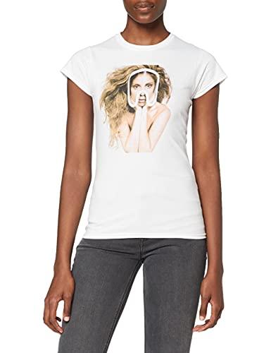 Lady Gaga Art Pop Teaser Camiseta, Blanco, 42 para Mujer