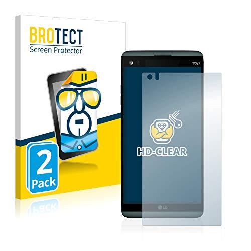 BROTECT Schutzfolie kompatibel mit LG V20 (2 Stück) klare Bildschirmschutz-Folie
