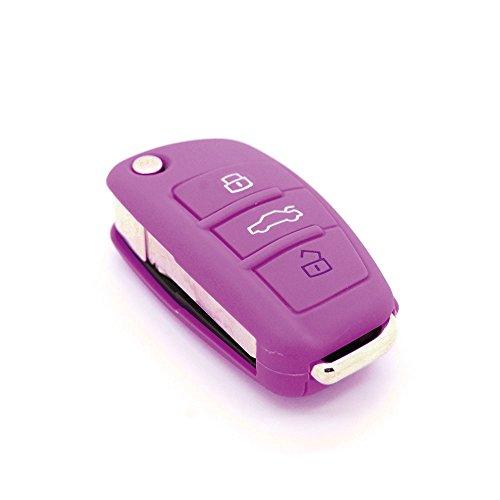 Funda de llave de silicona de 3 botones para Audi (apta para modelos de Audi A1/A2/A3/A4/A5)