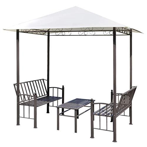 vidaXL Gartenpavillon mit Tisch Bänken 2,5x1,5x2,4m Gartenzelt Partyzelt