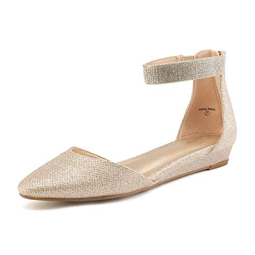 Top 10 best selling list for rose gold wedding shoes flat