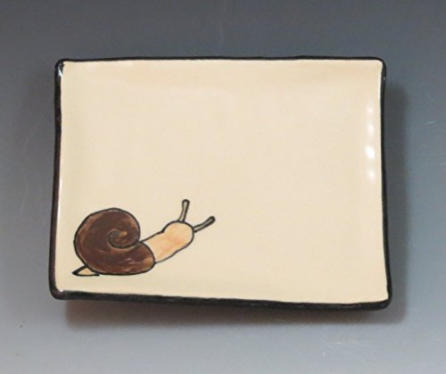 Handmade Ceramic Soap Dish with Snail